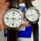 CASIO DATE ANALOG LEATHER DRESS COUPLE LOVER PAIR WATCH MTP/ LTP-1314L-7A GIFT