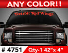 "DETROIT RED WINGS TEXT ONLY WINDSHIELD DECAL STICKER 42""x4 Any 1 Color $12.99 USD on eBay"