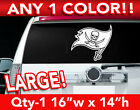 "TAMPA BAY BUCCANEERS FLAG LARGE LOGO DECAL STICKER 16""w x 14""h ANY 1 COLOR $17.99 USD on eBay"