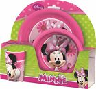 Disney Minnie Mouse | Pink Flowers Melamine Tumbler, Bowl & Plate Mealtime Set