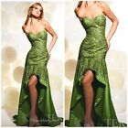 NWT TERANI COUTURE P648 HIGH-LOW SEQUINED/EVENING/FORMAL/$498 AUTENTIC-SZ-0,2
