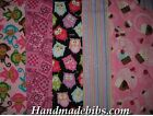 CHILD XL TODDLER BIB HANDMADE CUPCAKES OWLS BANDANA MONKEYS STRIPE