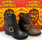 JEFFREY CAMPBELL STIVALE TRONCHETTO DONNA-WOMAN ANKLE BOOT MARRONE-NERO   WILLIS