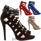Women's shoes sandals laced high heels slave gladiator new IL868-20