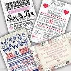 Personalised Vintage Wedding Invitations Invites