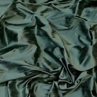 "Iridescent Cadet Gray Dupioni 100% Silk Fabric 44""/54"" Wide, By The Yard (S-252)"