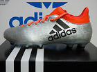 NEW ADIDAS X 16.3 Firm Ground Men's Soccer Cleats - Silver/Solar red;  S79485