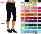 Cotton Spandex Capri Yoga Pants Leggings S M L Xl 2xl 3xl Slim Fit