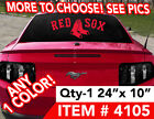 "BOSTON RED SOX DECAL STICKER 24""w x 10"" ANY 1 COLOR MORE DESIGNS SEE PICS on Ebay"