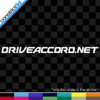 DRIVE ACCORD VINYL DECAL ** CHOOSE SIZE & COLOR