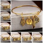 Fashion Charm Women Gold Rhinestone Cuff Bracelet Bangle Jewelry Gift Hot