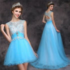 Sexy Long Blue Cocktail Evening Formal Party Dresses Prom Gown Bridesmaid Dress