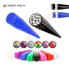Magnetic Snap On Fake Ear Taper Non Piercing Jewellery CHOOSE SINGLE OR PAIR