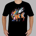New Saint Seiya *Pegasus Phoenix Retro Cartoon Men's Black T-Shirt Size S to 3XL image