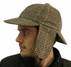 Campbell Cooper Brand New Classic High Quality Tweed Deerstalker Hat Brown