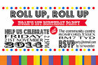 Circus Party Invites Invitations