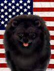 Pomeranian (Black): House Flags and Garden Flags. In three designs and two sizes