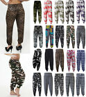 Ladies Plus Size Printed Harem Pants Cuffed Bottom Ali Baba Trousers 8-26