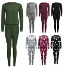 Ladies Plain Front Tracksuit Jogging Lounge Suit Gym Loungewear Plus Size 8-26
