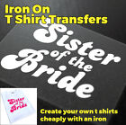 Sister of the Bride Hen Party Wedding Party Iron On Transfer