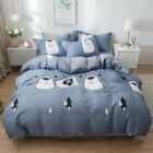 Floral Quilt Duvet Doona Cover Set Single/Queen/King Size 100%Cotton Bed Linen