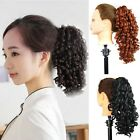 Long Wavy Curly Black/Brown Colorful Clip Claw Ponytail Hair Extension One Piece