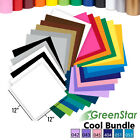 "GreenStar 24-Sheet/6-Color Packs Craft Sign Vinyl, 12"" x 12"", Cricut, Cameo, New"