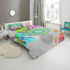 3 Pce HIP XANDINE Bohemian Quilt Doona Duvet Cover Set - Queen King