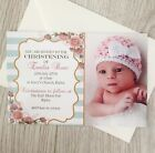 Photo Girl Personalised Christening Baptism Invites Invitations
