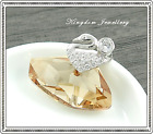 925 Sterling Silver 27mm Pendant made with Swarovski Crystal
