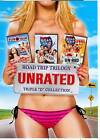 NEW 3 DVD +1uv ROAD TRIP UNRATED TRILOGY EUROTRIP BEER PONG ,FREE SHIPPING