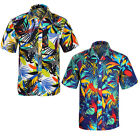 Herren Freizeit Hawaihemd Hawaii Aloha Shirt Hemd Strand Party Beach Shirts