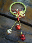3 Bell Jingle Bells Door Hanging Christmas Decoration - Red AND Gold