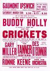 BUDDY HOLLY VINTAGE CONCERT  REPRODUCTION POSTER A3 or A4 OPTIONS AVAILABLE