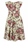 New Cream Red Floral Print Plus Size Midi Dress