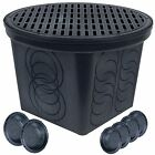 StormDrain FSD-3017-20BKIT-6 20 in. Large Round Catch Basin Grate Kit, Black