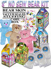 "TEDDY MOUNTAIN 8"" NO SEW / Build your own Plush Bear Kit"
