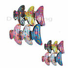 6pcs Flower Painted Hair Clips Pins Jaw Clamp Comb Claw Ties Updo Hair Lots 3.5""