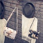 Fashion Satchel Printing Flower Design Shoulder Bag Hobo PU Leather Purse