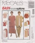From UK Sewing pattern Jacket, Dress, Top, Pants, Shorts Sizes 26W - 30W #9222