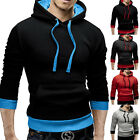 Fashion Mens Slim Hoodies Pullover Sports Sweatshirt Jacket Coat Hooded Outwear