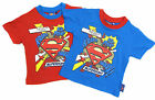 Boys Superman T-shirt Summer Top Short Sleeve Top Two Colour Styles 2Y to 8Y