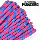 Pink Sky Camo - 550 Paracord Rope 7 strand Parachute Cord 10 25 50 100 ft