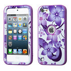 For iPod Touch 5th & 6th Gen - Hybrid Hard & Soft Armor Case Cover Skin Verge