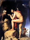 Ingres' Masterpiece: Oedipus Solves the Puzzle (classic French art print)