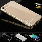 For Lenovo Phone Luxury Aluminum Metal Bumper Ultra-thin Case + PC Back Cover