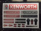 TAMIYA 1/14 KENWORTH - RED + CHROME/REFLECTIVE stickers FREIGHTLINER GLOBELINER