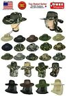Cool Mesh Brim Camo Boonie Bucket Hat Military Hunting Fishing Hiking Outdoor