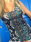 SOFT Brushed Aztec Tribal Mint Black tank top racerback fitted HOT KISS S M L XL
