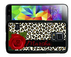 PERSONALIZED RUBBER CASE FOR SAMSUNG NOTE 8 5 4 3 LEOPARD PRINT ROSE
